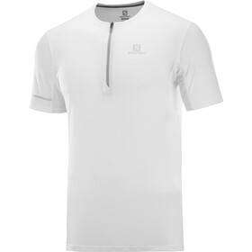 Salomon Agile Graphic T-shirt Halve Rits Heren, white/lunar rock